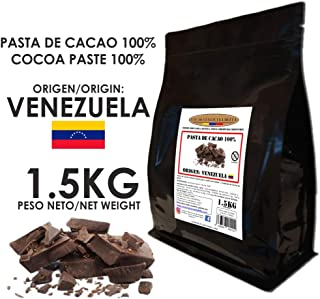 Cacao Venezuela Delta - Chocolate Negro Puro 100% · Origen Venezuela (Pasta, Masa, Licor De Cacao 100%) · 1,5kg