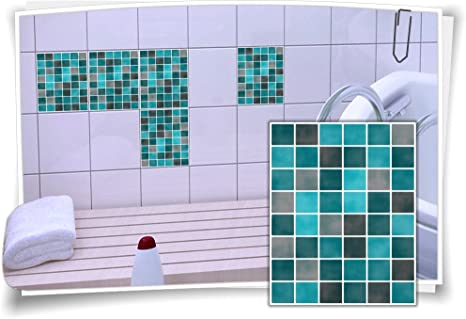 Fliesenaufkleber Fliesenbild Fliesen Fliesenimitat Aufkleber Mosaik Bunt