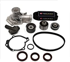Timing Belt Water Pump Kit fit for 1999 2000 2001 2002 2003 2004 2005 Hyundai Sonata, 2001-2005 Hyundai Santa Fe, 2001-2006 Kia Optima 2.4L 16V DOHC G4JS