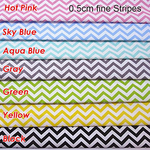 """TAOSON 100% Cotton 300 Thread Count 0.5cm Chevron Zig Zag Stripes Body Pillow Cover Pillowcase Pillow Protector Cushion Cover with Zippers Only Cover No Insert 21""""x54""""- Yellow"""