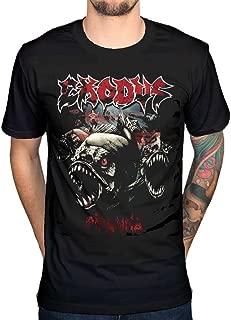Men's Official Exodus Piranha T-Shirt Thrash Metal Music Band