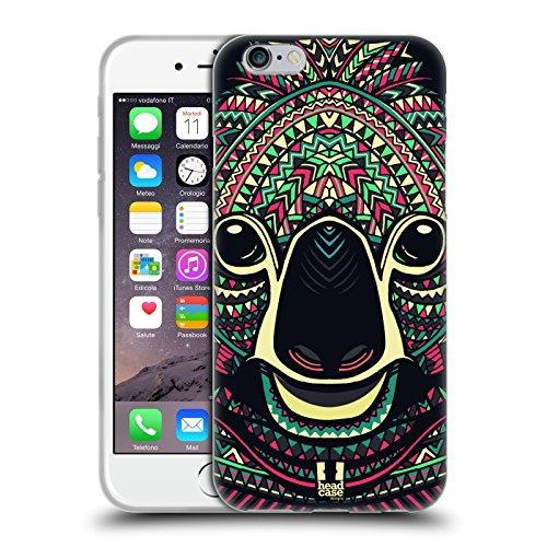 Head Case Designs Koala Volti di Animali Aztechi Serie 5 Cover in Morbido Gel e Sfondo di Design Abbinato Compatibile con Apple iPhone 6 / iPhone 6s