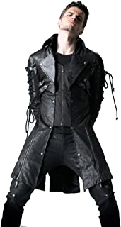 Punk Steampunk Abrigo - Chamarra de Invierno para Hombre