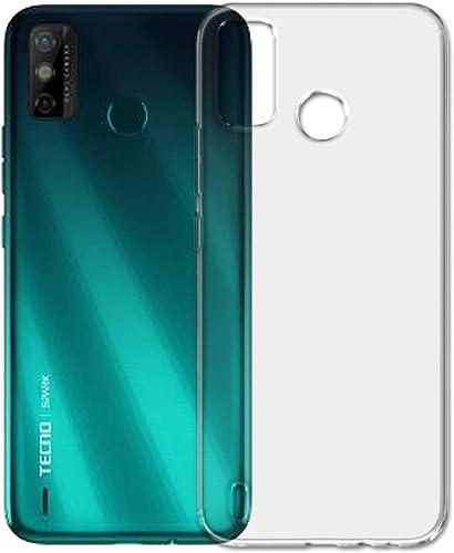 SKMO Silicon Soft Transparent Shockproof Back Cover Case For Tecno Spark Go 2020 KE5