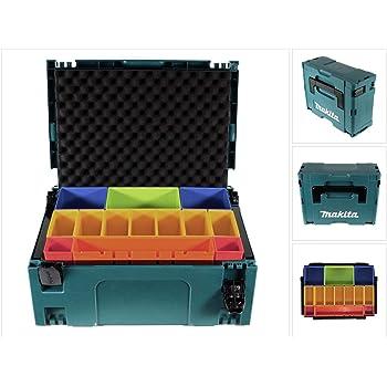 Makita MAKPAC 2 P-83652 - Caja de herramientas con inserto de espuma: Amazon.es: Bricolaje y herramientas