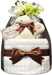 おむつケーキ [ 男の子 : 女の子/今治タオル : オーガニック / 2段 ] パンパース S22枚 (出産祝い に Sサイズ)2002 ダイパーケーキ 赤ちゃん ベビーシャワー ギフト 誕生日プレゼント