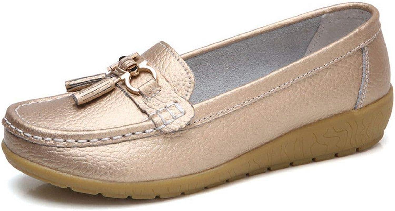 Julitia Genuine Leather Women Flats Slip On Women's Loafers Female shoes Plus Size
