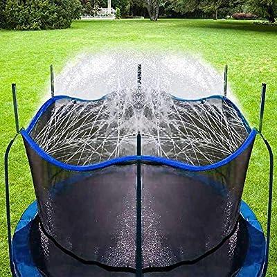 Bobor Trampoline Sprinkler for Kids, Outdoor Trampoline Backyard Water Park Sprinkler Fun Summer Outdoor Water Toys for Boys Girls. (Dark Blue, 39ft)