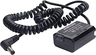 ANDYCINE DC a NP-FW50 Adaptador de batería simulada para cámaras Sony Compatible con cámaras DSLR Sony A6000 A6100 A6300 A6500 A7 A7S A7R a7 II a7S II y a7R II