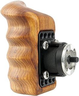 NICEYRIG Mango de Madera Grip con ARRI Style Rosette para cámara Jaula Sistema de Soporte de Apoyo de Hombro (Derecho)