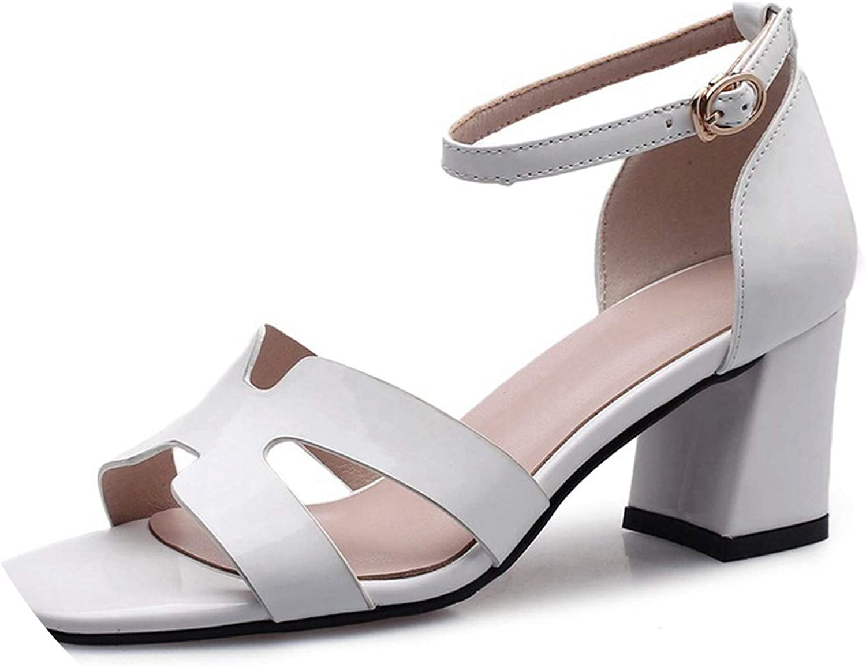 Sandaler, cut -Out Peep Toe Gladiator Sandaler High klackar Patent läder Sandaler svart skor