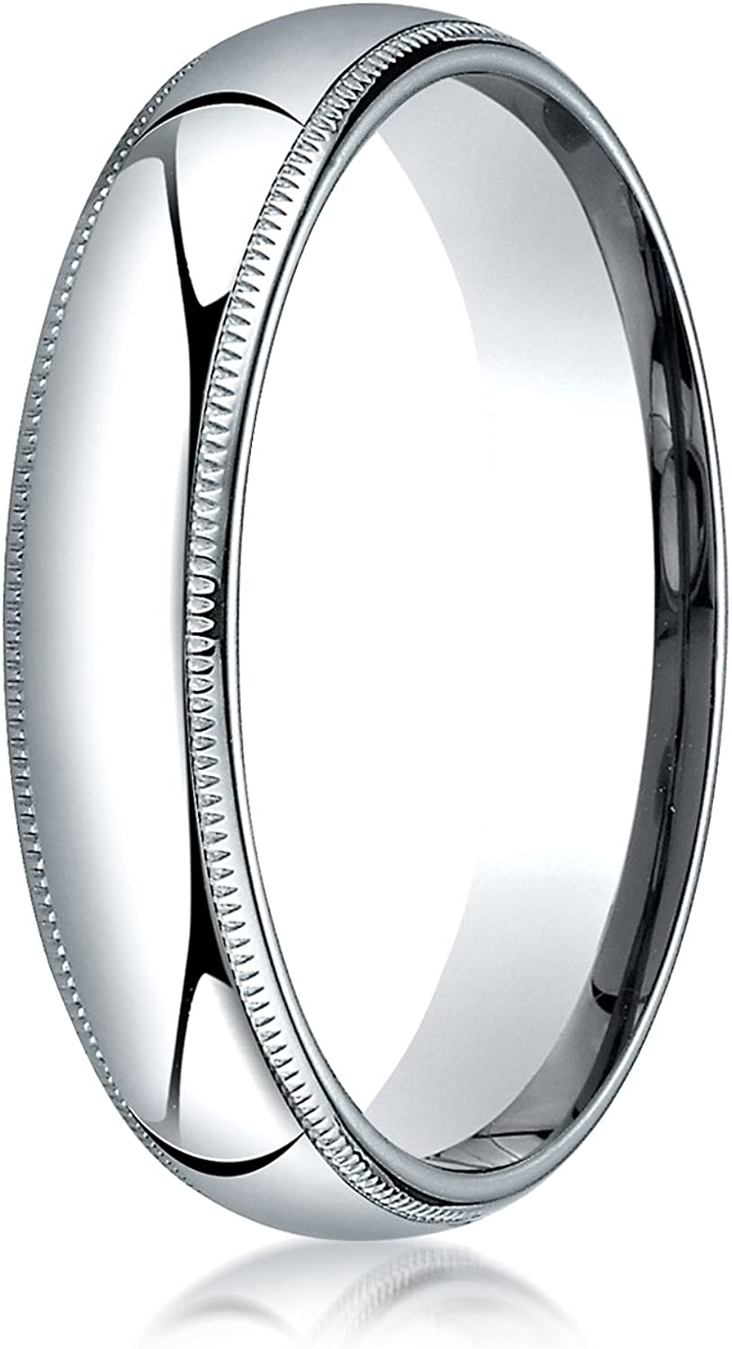 Men's Platinum At the price of surprise 5mm Limited time trial price Slim Profile Milgrain Weddin with Comfort Fit