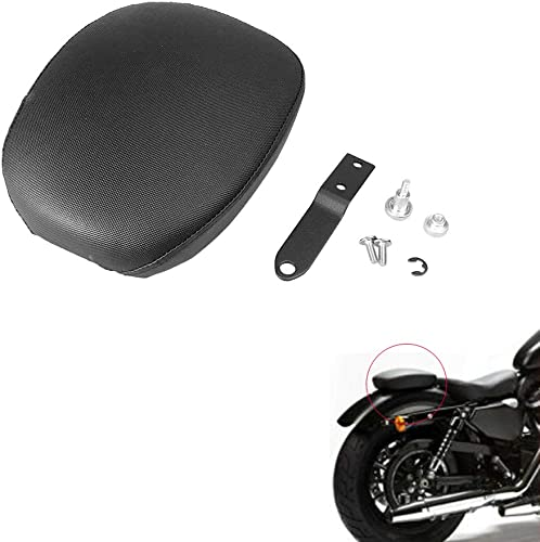 new arrival Mallofusa Motorcycle Pillion Seat new arrival Pad Passenger Rear Seat Cushion popular Compatible for Sportster 48 Black outlet online sale