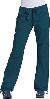 KOI Women's Lindsey Ultra Comfortable Cargo Style Scrub Pants (Tall Sizes), Caribbean, Medium