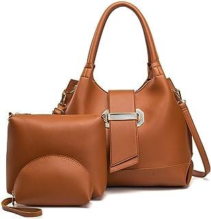 Women's Handbags 3 Set Versatile Multi Piece Set (Color : E)