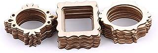 Aofocy 30 Pcs cadre inachevé en bois sculpté ornements embellissement pour carte scrapbooking bricolage artisanat de haute...