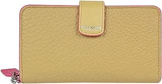 Bleecker Leather Edgepaint Phone Wallet 62273 Camel Pink Ruby