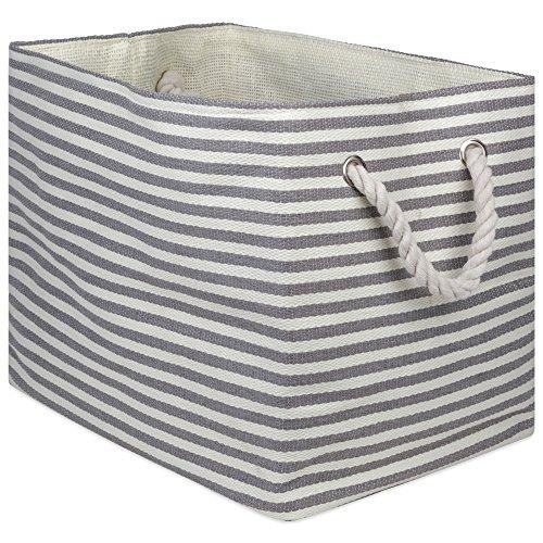 DII Aufbewahrungskorb aus gewebtem Papier, zusammenklappbar und praktisch Rechteck Medium Rectangle...