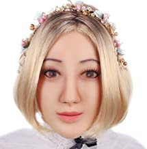 Minaky Silicone Realistic Female Head Mask Handmade Face for Crossdresser Transgender Cosplay Drag Queen Costumes 1G