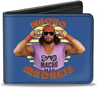 Buckle-Down Bifold Wallet WWE Macho Man Randy Savage Accessory, -WWE Macho Man Randy Savage, 4.0