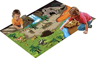 51 Pcs Dinosaur Toys Playset With Fabric Play Mat - 20 Educational Realistic Dinosaurs Toys + 29 Trees With Rocks To Create A Dinosaur World Including T-Rex, Triceratops, Velociraptor, Spinosaurus etc