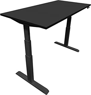 adjustable height desk black