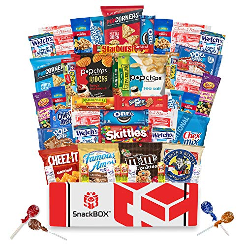 Care Package for College Students (50 Count) Great for Military, Fathers Day, Finals or Back to School From Snack Box …