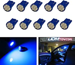iJDMTOY (10) 10-SMD 168 194 2825 W5W LED Replacement Bulbs For Car Interior Map/Dome Lights, License Plate Lights, Parking Lights