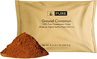 Ground Cinnamon (8 oz) by Pure Organic Ingredients, Cinnamomum Cassia for Baking, Anti-Inflammatory, Eco-Friendly Packaging (Also in 4 oz, 1 lb, 2 lb)