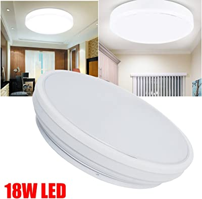 Amazon.com: 2 luces LED redondas planas de 18 W, ultra finas ...