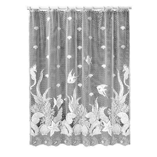 White Lace fish shower curtain