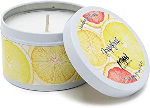 Primal Elements Grapefruit Tin Candle, 5.7 Ounce