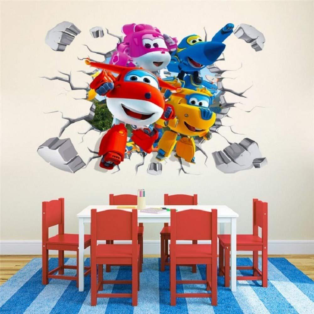 3D Outlet sale feature Louisville-Jefferson County Mall Wall Sticker Art Applique 3 Wings Super Mural Cartoon