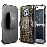 NageBee Case for Motorola Moto X4 / Android One Moto X4 with Tempered Glass Screen Protector (Full Coverage), Belt Clip Holster Heavy Duty Shockproof Combo Case -Camo