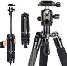 SIRUI Carbon Fiber Traveler 5CX Tripod 51.97 inches Lightweight Travel Outdoor Tripod with 360° Panorama Ball Head and Arc...