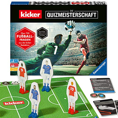 Ravensburger 26288 - kicker - Die Quizmeisterschaft, Spiel für Fußballfans, Quizspiel im kicker-Design ab 10 Jahren für Kinder und Erwachsene, Fußball zu Zuhause für 2-6 Spieler