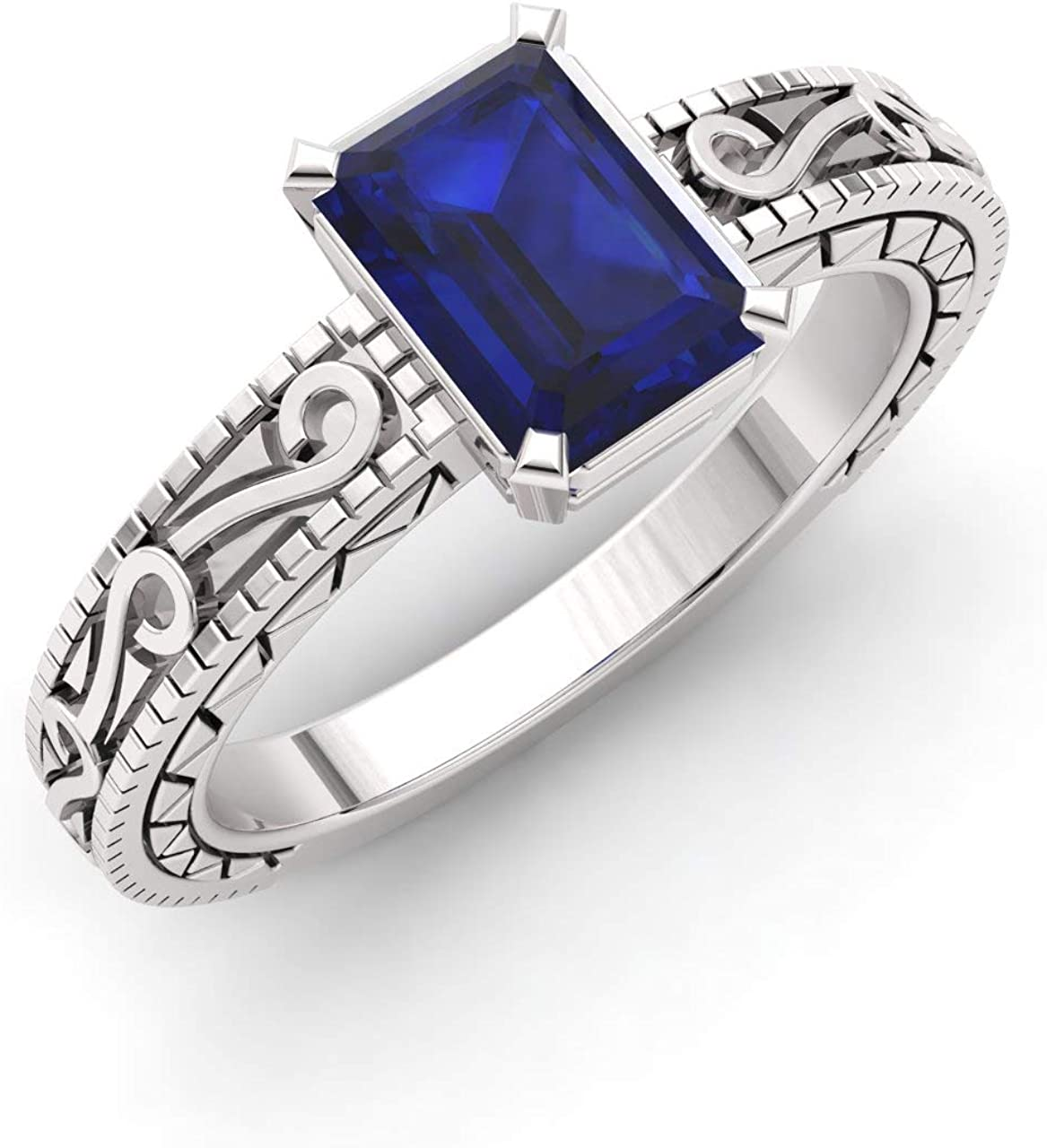 Diamondere Natural and It is very popular San Jose Mall Certified Emerald Engag Sapphire Cut Blue