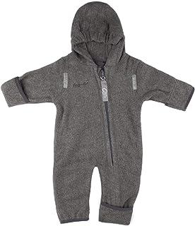 Hoppediz Overall aus Bio-Baumwolle mit praktischen Umschlagbündchen 68-74 grey