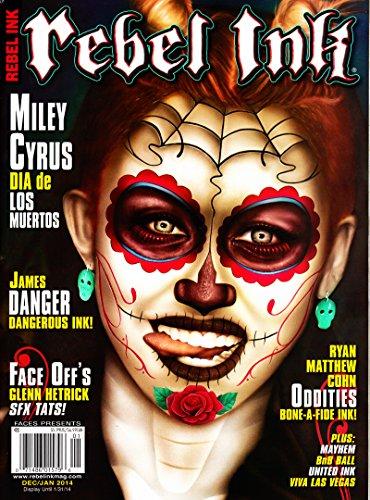 REBEL INK MAGAZINE DEC/JAN 2014 MILEY CYRUS COVER
