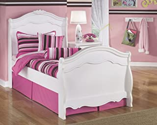 Signature Design Exquisite White Wood Twin Sleigh Bed by Ashley