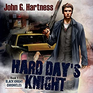 Hard Day's Knight     Black Knight Chronicles, Book 1              By:                                                                                                                                 John G. Hartness                               Narrated by:                                                                                                                                 Nick J. Russo                      Length: 5 hrs and 54 mins     734 ratings     Overall 3.9
