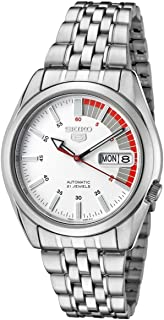Seiko Men's White Dial Stainless Steel Band Watch - SNK369J1