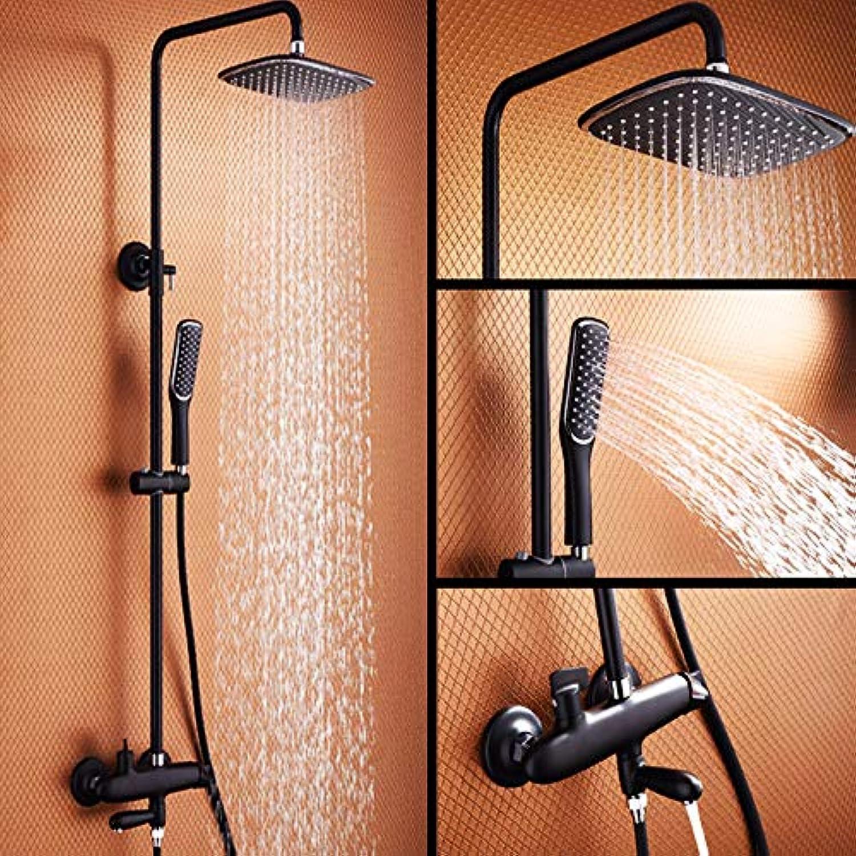 L YY Duscharmatur Set Regendusche Duschsystem Mischbatterie Dusche ohne Wasserhahn Duschstange Hhenverstellbar Mit Duschkopf überkopfbrause Duschset
