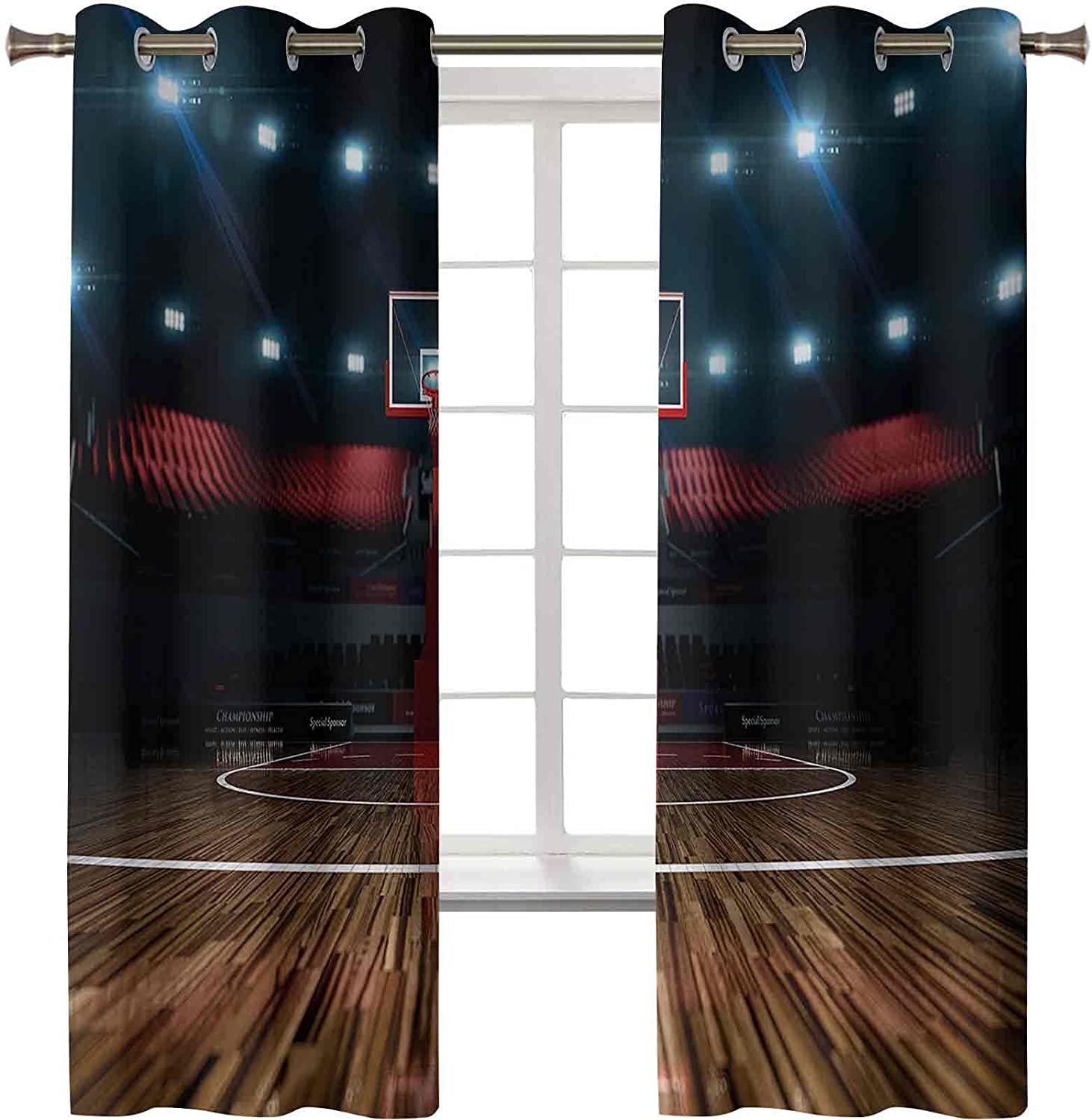 Black Out Curtains 55% OFF Professional Limited price sale Before Basketball Arena Stadium