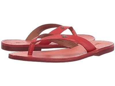 Frye Azalea Logo Flip-Flop (Coral Antique Veg Tan) Women