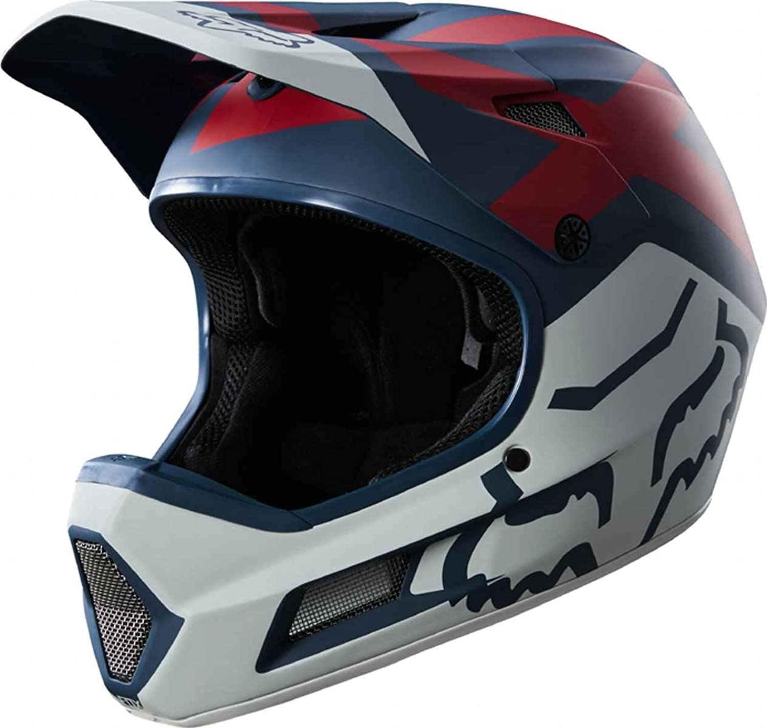 Fox Rampage Comp Preme Bike Helmet blueee Red