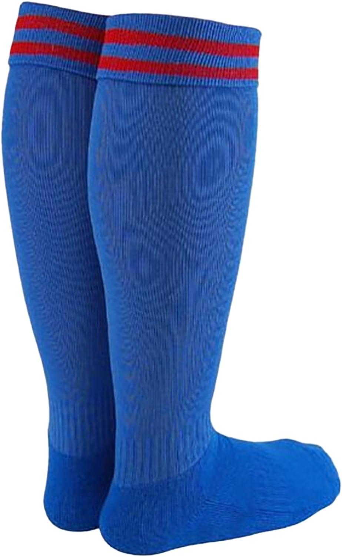 Lovely Annie Girls' 1 Pair Knee High Sports Socks for Baseball/Soccer/Lacrosse 002S Blue