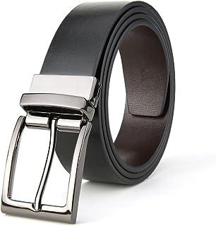 Men Belt Classic Dress Leather Belt Business Casual Waist Belt (Size : XXL)
