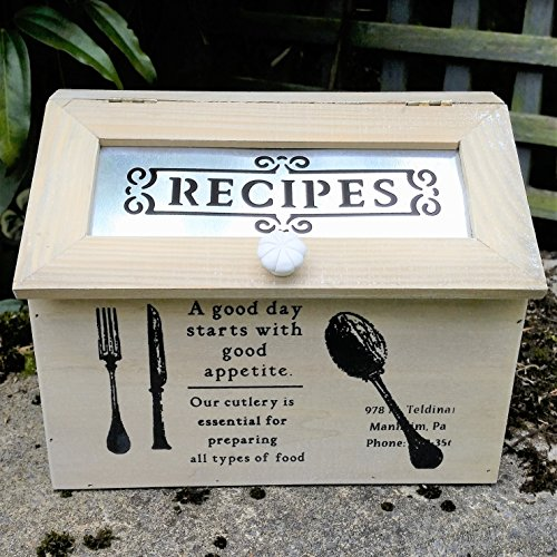New Vintage Inspired Wooden Recipe Box by Heaven Sends