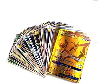 coreychen 120PCS Poke Game Cards, Children's Visual Perception Skills Development Cards for Mega Cards GX Cards Tag Teams Includes 80 TAG Team, 20Mega and 20 GX